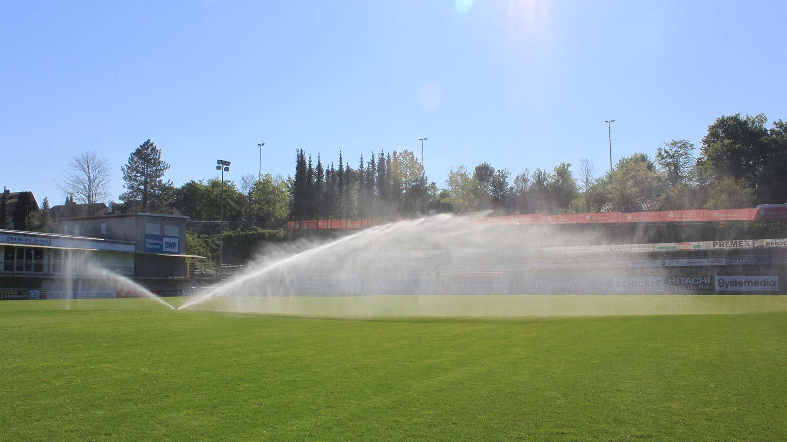 Bewässerung Fussballplatz - FC Nöttingen