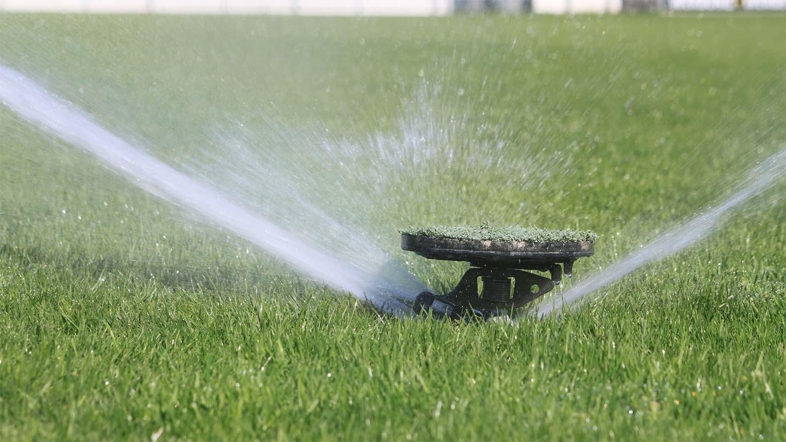 Bewässerung Rasen - FC Nöttingen