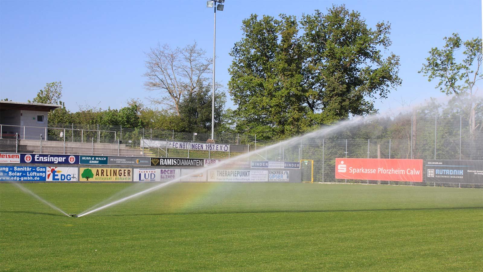 Bewässerung Rasenplatz - FC Nöttingen