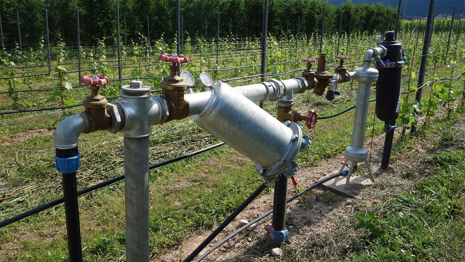 Bewässerung Wasserleitungen