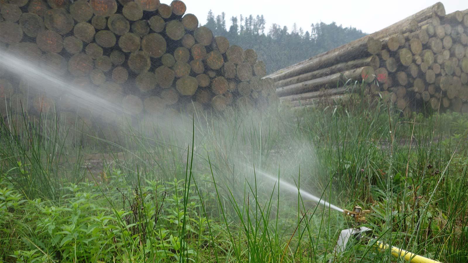 Bewässerungsanlage Holz