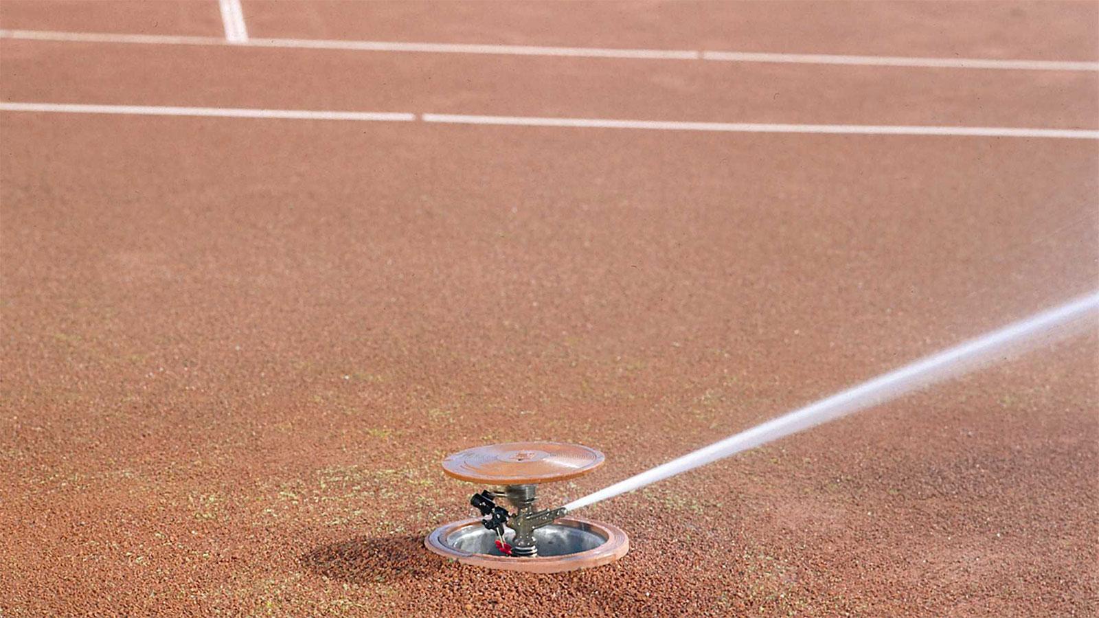 Bewässerung Tennisplatz